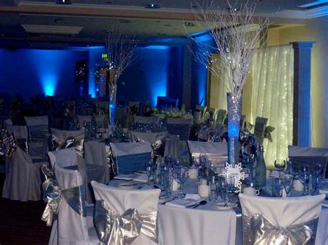 royal blue  silver wedding decoration ideas table