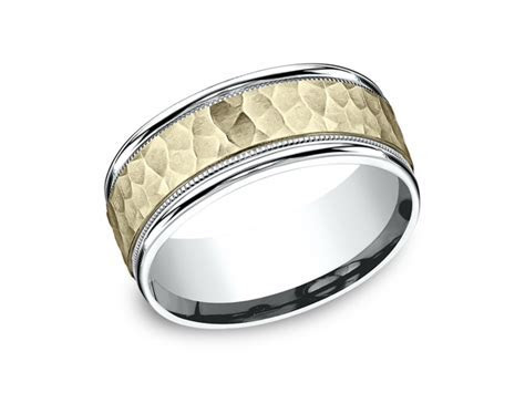 Two Tone Comfort Fit Design Wedding Ring CF17830814KWY11