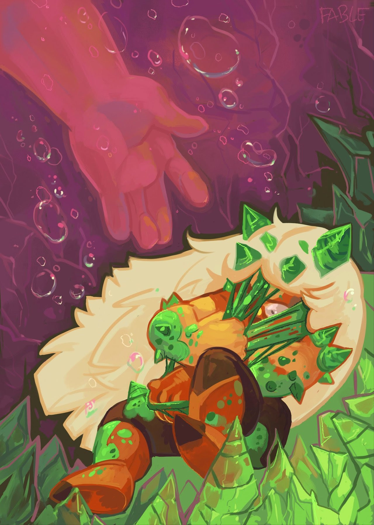 Since it's another SU bomb day, here's a painting I did of Jasper for a zine a while back.