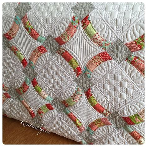 Finished my #metrohoops quilt using #littlerubyfabric and