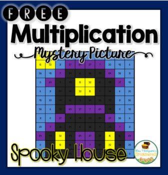 FREE Halloween Multiplication Mystery Picture