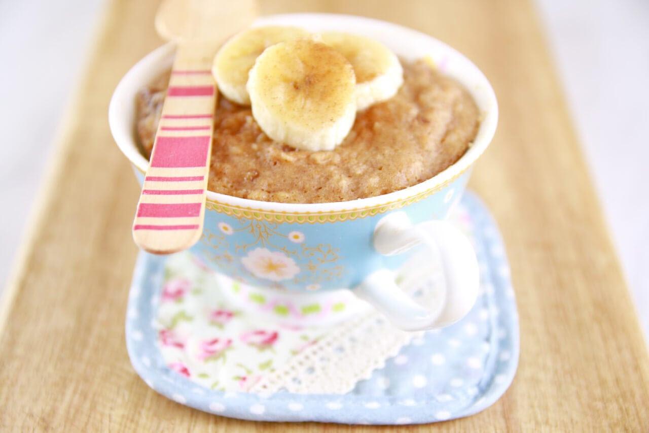 Microwave Peanut Butter & Banana Mug Cake (Microwave Mug ...