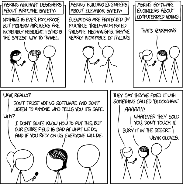 Errata Security That Xkcd On Voting Machine Software Is Wrong