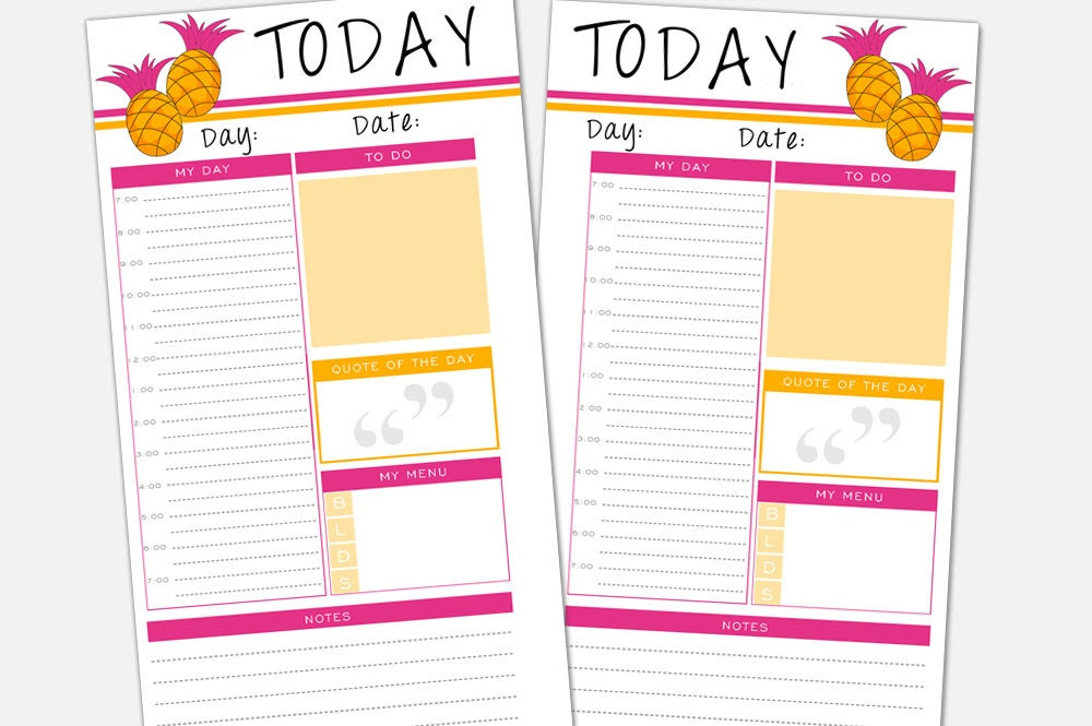 Daily Planner Inserts