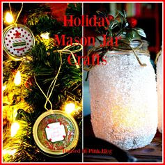 Quick and easy tutorials on how to make a snowflake tea light holder with mason jars and ornaments with the mason jar lids!