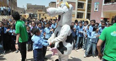 جهينة تشارك الاطفال فى المدارس