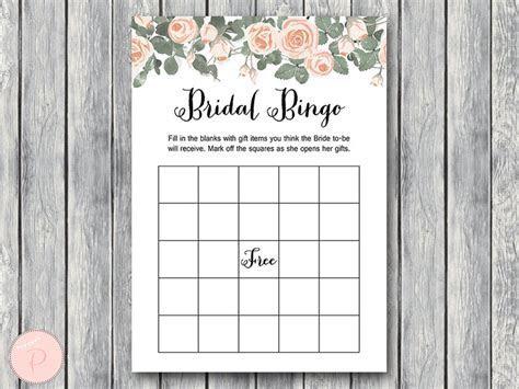 Pink Floral Bridal Shower Game Printable   Bride & Bows