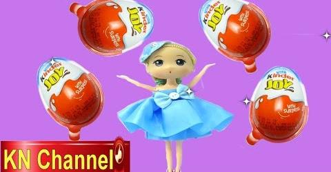 Đồ chơi trẻ em Bé Na Búp bê Chibi bóc trứng bất ngờ Kinder Surprise Egg tập Kids toys