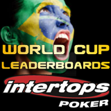 Intertops Poker Players Win  GTD Tournament Tickets during World Cup Leaderboard Contest