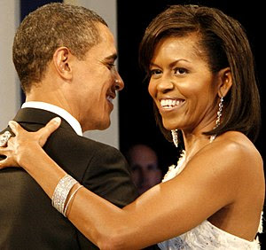 English: President Barack Obama and the First ...