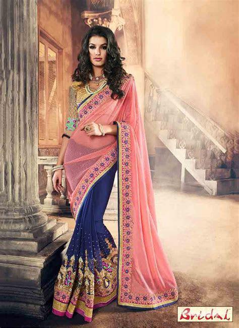 Best Indian Bridal Sarees 2017 New Saree Designs   FashionEven