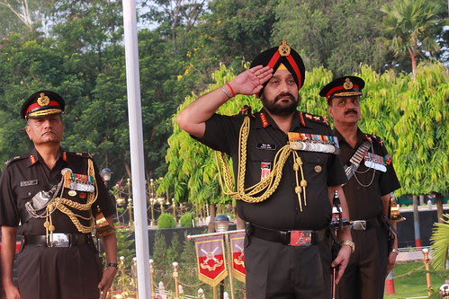 COAS  ON THE SALUTING BASE by Chindits