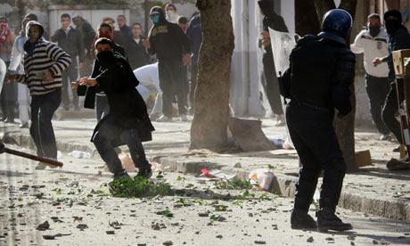 Algerian protesters