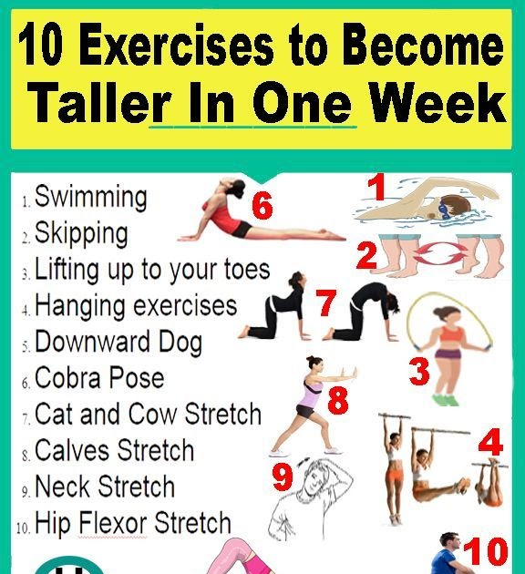 Stretches to do to get taller