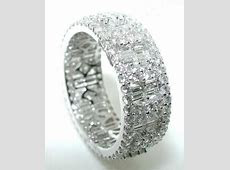 2.61CT Mosaic DIAMOND ETERNITY BAND Round Baguettes 18K   eBay