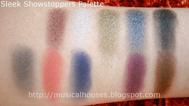 sleek showstoppers palette swatches