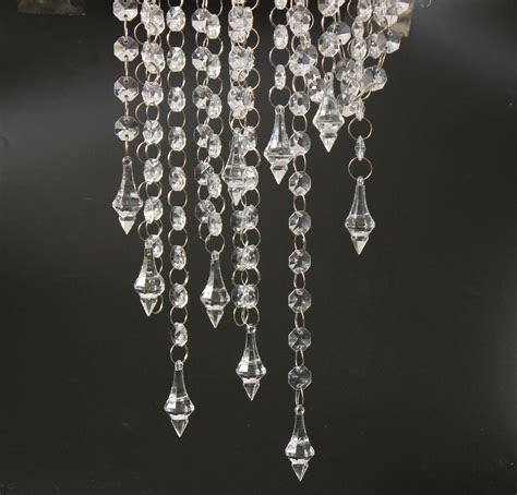 33FT Clear Crystal Acrylic Chain Garland Chandelier