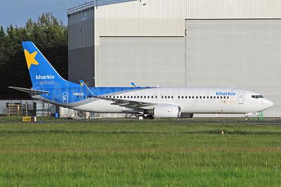 Kharkiv Airlines Boeing 737-8Q8 WL EI-EOP (msn 32841) SNN (Malcolm Nason). Image: 912337.