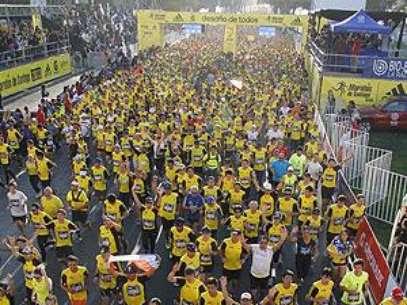 Todo listo para la Maratón de Santiago 2014. Foto: runforlife.cl