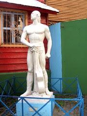 Monumentos en Caminito.