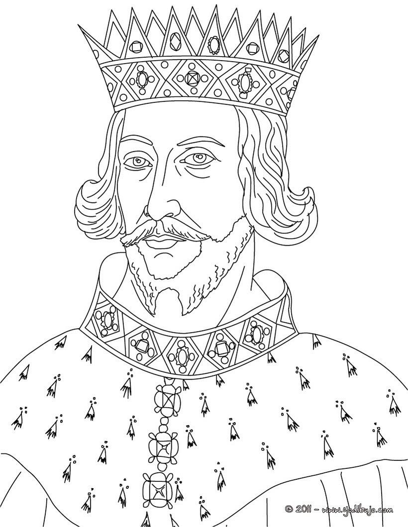 Dibujos Para Colorear Rey Enrique Ii De Inglaterra Eshellokidscom
