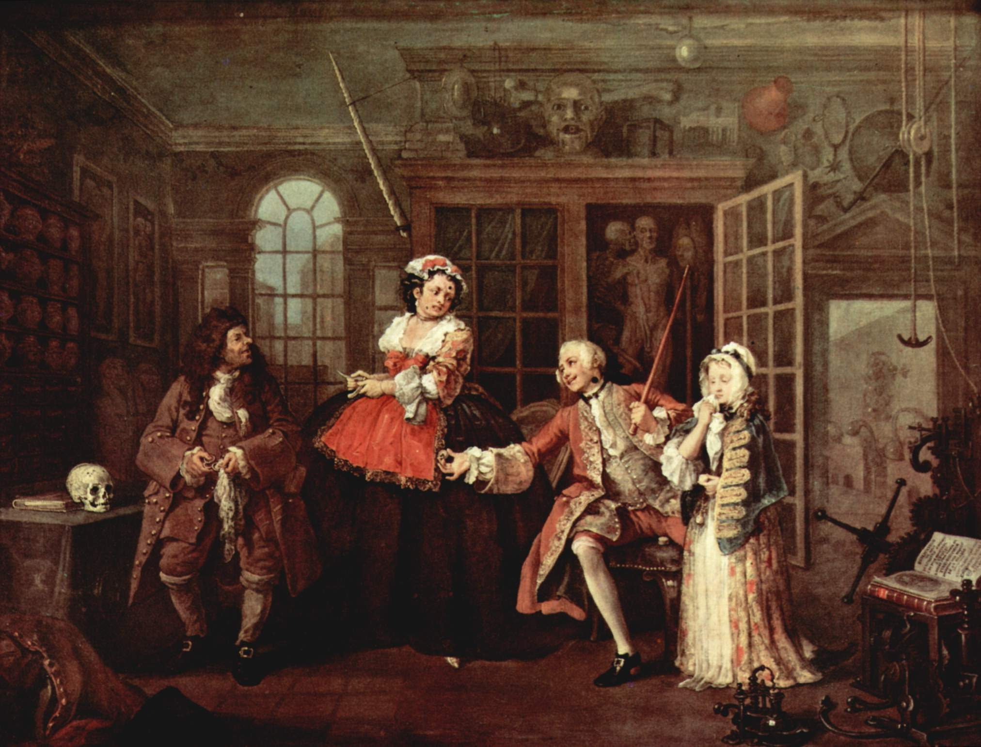 mariage-a-la-mode, Hilliam Hogarth, 1745