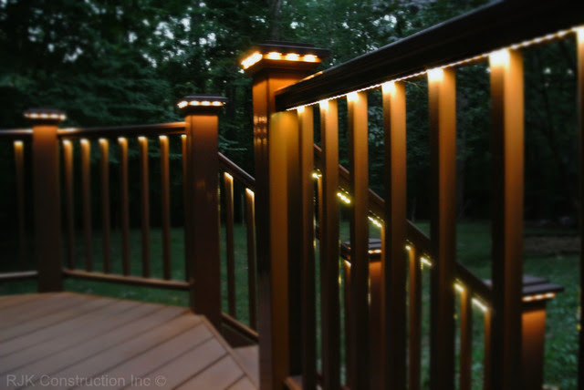 Deck with Rail Lighting - traditional - porch - dc metro - by RJK