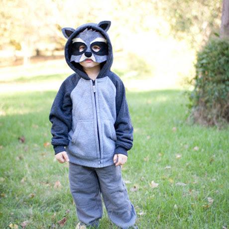 easy raccoon animal costume