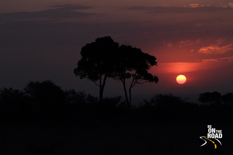 Sunset in the east African bush