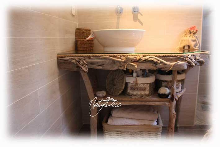 Table et chaises de terrasse meubles bois flotte - Chaise bois flotte ...