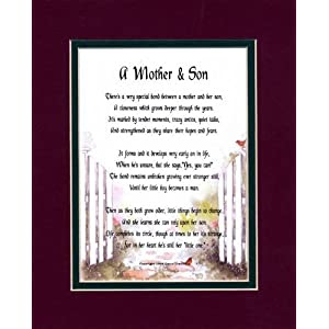 Memorial Day Flag A Mother Son Touching 8x10 Poem Double Matted