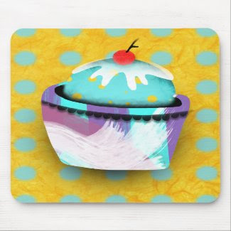 homemade cupcakes candy cherry mint mousepad mousepad