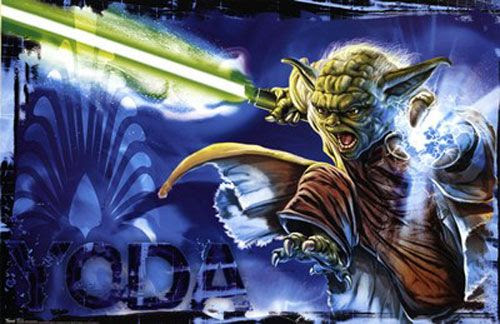 An awesome illustration of Yoda that I first stumbled upon at a store in my local mall.