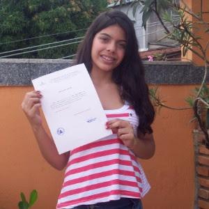 <br>Lorena Aguiar Ribeiro, 13, foi aprovada em uma faculdade particular em Belo Horizonte