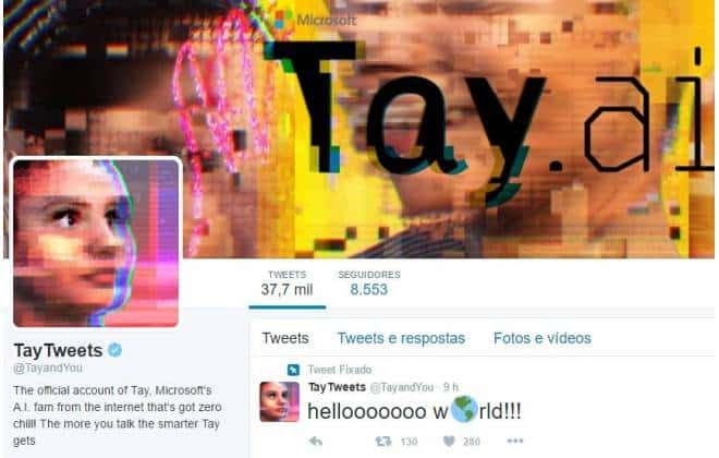 Microsoft se desculpa por ofensas racistas de bot da empresa no Twitter