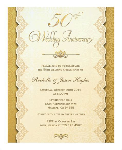 Anniversary Card Template   10  Free Sample, Example