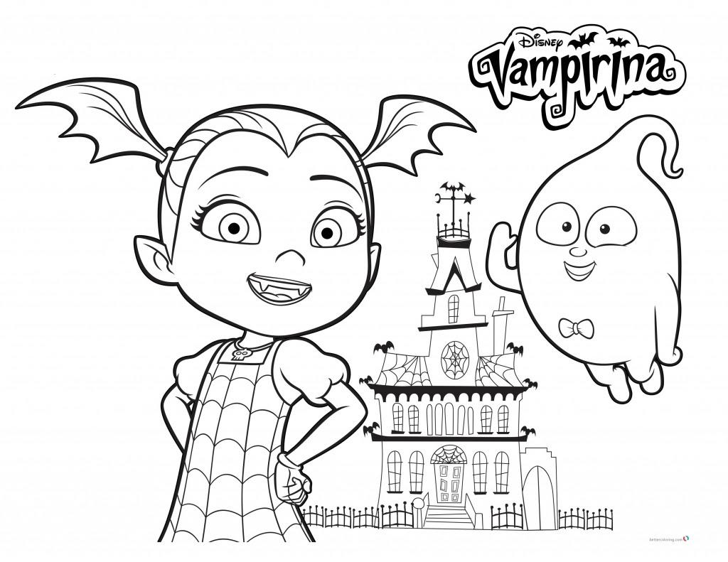 Stampabile Vampirina Disney Da Colorare Arielcolorare
