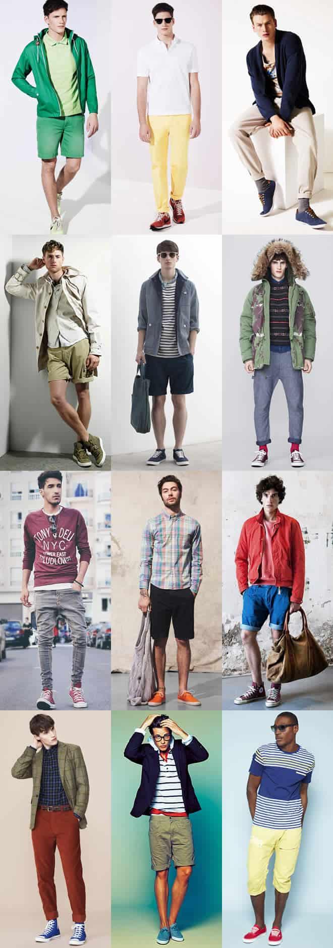 Men's Coloured Trainers Lookbook