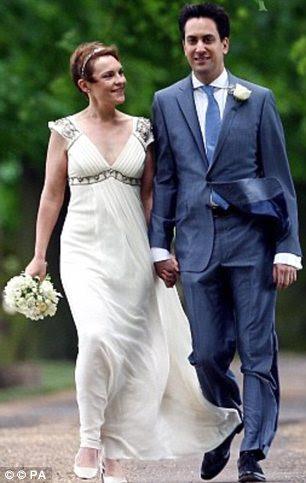 União política: a esposa de Ed Milliband de Justine Thornton em seu vestido Temperley