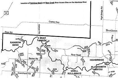 Rainbow Bend and Bear Creek map