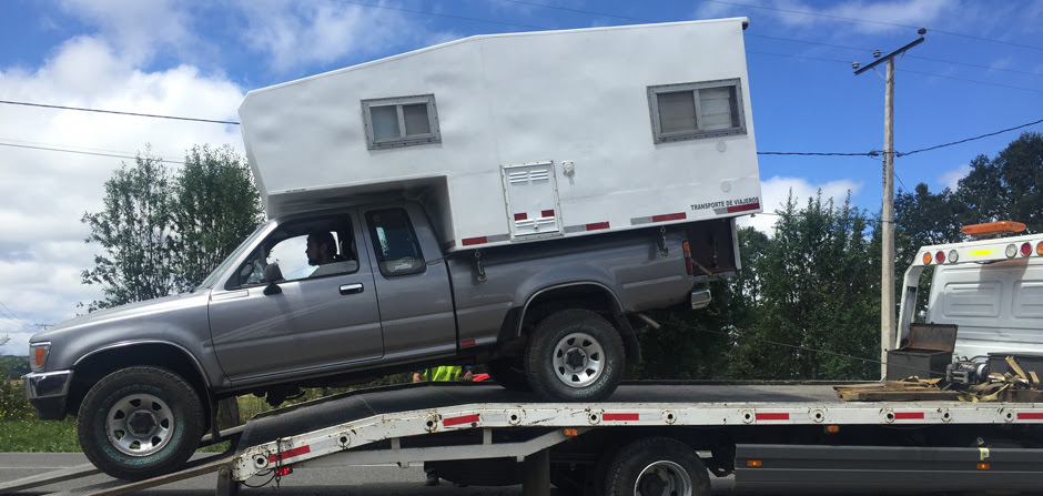 on tow truck