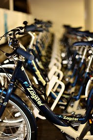"So far Zagster has set up its ""bike fleet in a box"" at about 55 locations."