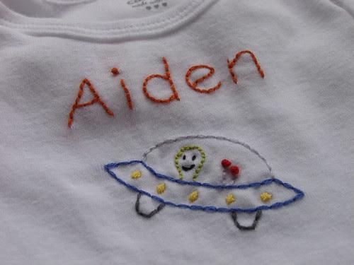 Aiden's space onesie