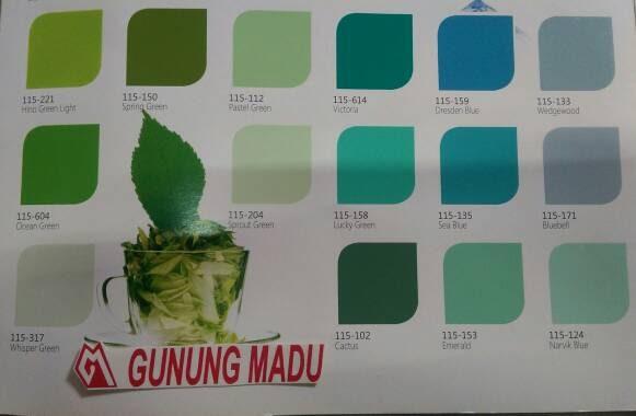 Nama Warna Cat Rumah Minimalis  baru 42 cat dulux warna hijau tosca