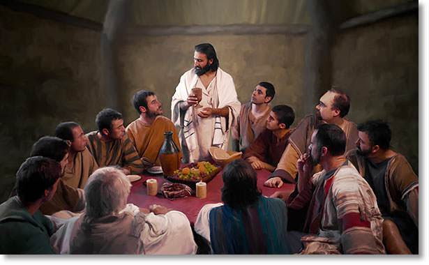 Image result for jesus in the upper room