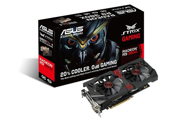 The ASUS Strix Radeon R9 380X is one of a handful of custom cards that are slowly becoming available. (Image Source: ASUS)