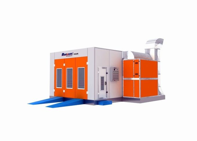 Orange Commercial Infrared Automotive Spray Booth Paint ...