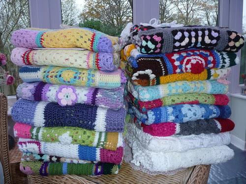 18 'Sunshine Blankets' ready to go to Dorset.