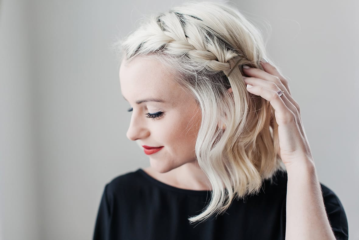 How To Do A Side Braid On Short Hair Poor Little It Girl