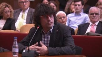 Carles Fernández, excap de Comunicació de Joana Ortega, testificant al judici pel 9-N
